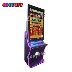 Iluminación Linterna Coofuns Enlace feliz juego de tragaperras de vídeo en pantalla doble tablero de juego de casino para la venta