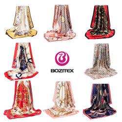 China Custom 100% puro de la mujer Pañuelo de seda de impresión
