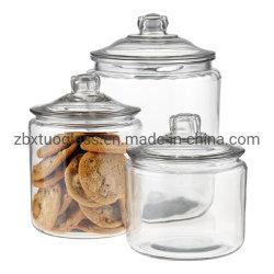Cartouche de stockage des bocaux en verre en verre contenant de verre pour le riz café Candy Cookie
