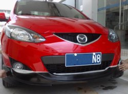 Divisor de difusor Bodykits PU/rejilla para Mazda 2 Sport