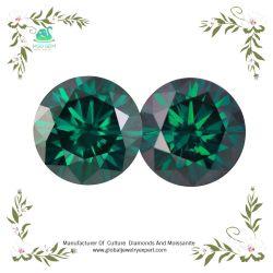 MGOの全体的な宝石の優秀なラウンドカットの深緑色のWounderfulニースカラー2CT 3カラットの人造文化Moissaniteは石を緩める