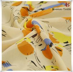 100 % polyester 100D Imprimé tissu stretch mousseline de soie