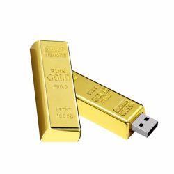 ذاكرة USB محمولة فاخرة من الطوب الذهبي من القرميد USB