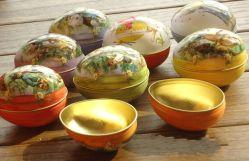 La forme d'oeufs Tin Box/oeuf de Pâques
