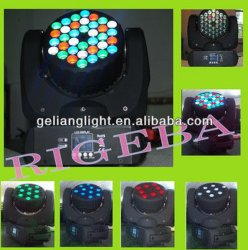 ضوء رأس متحرك ذو ضوء LED ذو ضوء LED ذو ضوء LED ذو ضوء LED عالي القدرة 36*5 واط