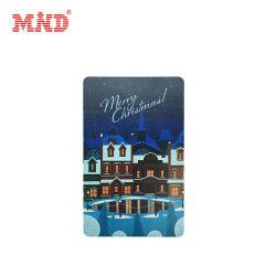 Impresión a todo color de la tarjeta de agradecimiento de la tarjeta de regalo de Navidad
