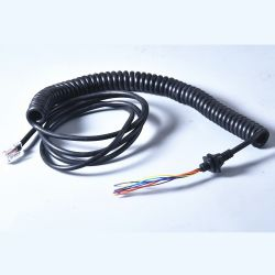 موصلات RJ45 ذكر كبل زنبركية ملفوف لوصلة الهاتف