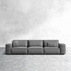 Fauteuils en cuir en coupe de tissu moderne canapé d'angle défini pour la vie de la table d'Accueil de Loisirs Meubles de salle