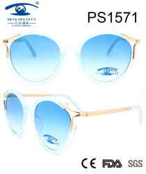 L'Italie design style populaire de la mode des lunettes de soleil en plastique du châssis (PS1571)