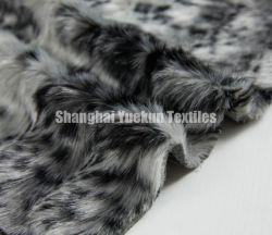 Ligados jacquard negro blanco Faux Fur Fabric Mink Fur Wholesales falsos