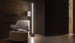 Регулируемый вращения 220° современный дизайн Напольный светодиодный светильник трубы смены цветов искусство лампы