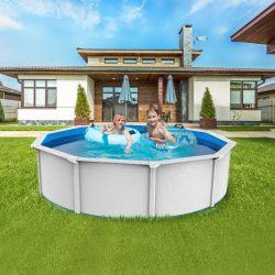 Starmatrix Sp7312b/BW القطر 7.3م الإطار المعدني للأطفال حوض السباحة الصلب