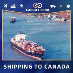Carga de las tasas de amigo Roro de puerta en puerta Océano Msc Xiamen a Canadá Yvr4 de almacén de Amazon China Consignataria Mar de los servicios de envío
