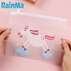 Frankrijk Online Stationery Office Supplies Desk Organizer PVC Cartoon Clear Bestandshouder Sweet Cute Waterproof Documents draagtas