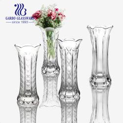 Vidrio grabado Grande Elegante Hot-Sale jarrones de la decoración del hogar (GB1537DZS)