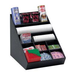 Acrílico vaso de papel de paja, condimento Organizador y soporte de almacenamiento soporte para Breakroom/Cafetería/sala de espera/oficina/Home