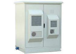 Équipement de plein air de télécommunications Telecom Cabinet avec air conditionné, extérieur cabine double de type armoire