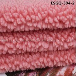 100% poliéster de bucle de corte Faux Fur Esgq Shearling-394-2