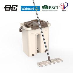 Des Fußboden-Mopp-Reinigungs-Mopp-Pedal-360 Mopp-magische Mopp-Küche-Produkt-einfaches flaches Mopp-Reinigungs-Hilfsmittel Drehbeschleunigung-Mopp-Mopp-Wannen-des Systems-Microfiber