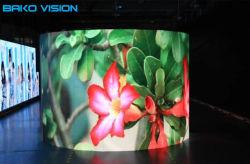 Видео стены на этапе свадьбы изогнутые Die-Casting кабинета P РП3.91/P4.81 аренду светодиодный дисплей