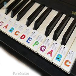 Custom прозрачной пластиковой съемной клавиатурой пианино Примечание наклейки