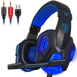 Heißer verkaufenled Über-Ohr Computer-Spiel-Kopfhörer-Kopfhörer mit Mic für Dampf-Spiel