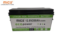 Mica 12V/12.8V die 200ah van uitstekende kwaliteit snel de Betrouwbare Batterij van het Pak LiFePO4 van de Batterij van het Lithium het belasten met het ultra Lange Leven van de Cyclus