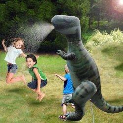여름 옥외 PVC 팽창식 뒤뜰 엄청나게 큰 공룡 비말 물 물뿌리개 게임 장난감