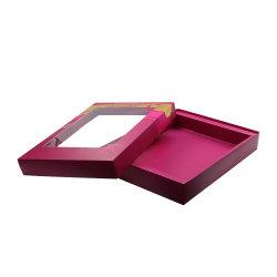 L'estampage à chaud des bijoux Bague Fleur cosmétiques boîte cadeau en carton
