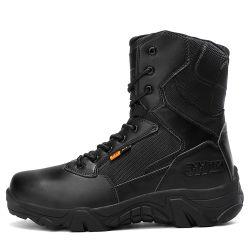 Мужской обуви для использования вне помещений при загрузке с водонепроницаемым военных ботинок