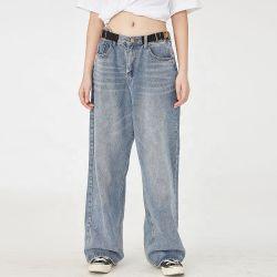 Longueur de la cheville lâche les femmes Le pantalon de Jeans Denim pantalon bleu clair 2020
