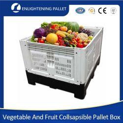 ヘビーデューティ OEM 大型バルク倉庫保管大規模メッシュ / 通気農業 フルーツ野菜用の積み重ね可能な HDPE 折りたたみ式 / 折りたたみ式 / 折りたたみ式プラスチックパレットボックス
