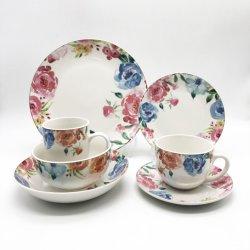 플레이트 컵과 접시가 있는 가벼운 럭셔리 30PCS Porcelain 디너 세트 매일 16-30PCS를 사용합니다