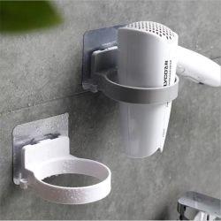 الحمام غرفة الغسيل مجفف الشعر البلاستيك على الجدار مشبك مخزن حامل