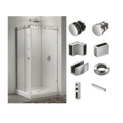 Sin cerco correderas mampara de ducha ducha rodillo puerta corrediza de vidrio de Hardware Accesorios
