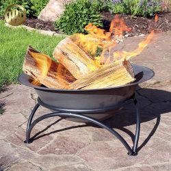 파우더 코팅 금속 원형 목재 불타는 소방 피트