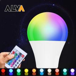 Lâmpada LED Smart SMD 9W 5W-15W A60 E27 B22 Lâmpada LED de poupança de energia do controlo remoto RGBW E26 Lâmpada