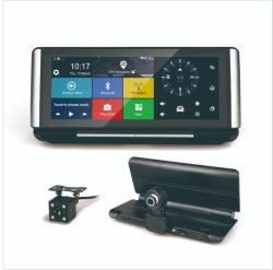 6.86inch 4G車のビデオ録画のためのWiFi GPSの運行ラジオが付いている人間の特徴をもつ車のダッシュのカメラDVRのブラックボックス