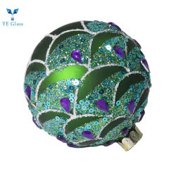 تتمة زرقاء مستديرة خضراء مخصصة كرات تزيين الزجاج القوسي آرك
