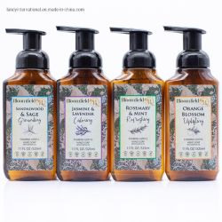 325ml de la formation de mousse de savon doux avec la pompe, hydratant, rafraîchissante, avec huiles essentielles, naturel parfumé, bois de santal et de sauge, romarin et menthe, Orange Blossom, Jas