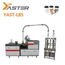 De Alta Velocidad de Alta Eficiencia de ultrasonidos automática de café caliente Icecream Single Doble Papel estucado taza Tazón de papel de máquina de hacer la formación de Yast-L85.