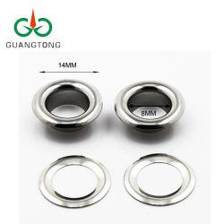 Anello in ottone rotondo in nichel lucido lavabile da 8 mm con occhiello in metallo Per borsa
