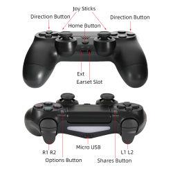 Классическая черная PS4 игровой контроллер беспроводной связи Bluetooth контроллер для компьютерных игр