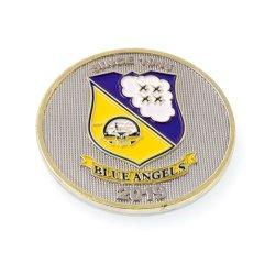 Precios baratos a granel de monedas de bronce Logotipo personalizado Sports desafío monedas conmemorativas de 3D de doble chip chapado en plata para la venta