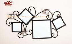 Aplique de pared de espejos de metal de la luz de Té Candelabro