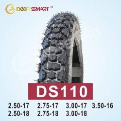 中国最も売れ行きの良いPneu Motoのサイズ2.75-17パターンオートバイのタイヤDs110 (TT/TL)のオートバイのチューブレスタイヤの自動車の付属品のモトクロスのタイヤ