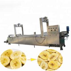 Electricidade Aquecimento Banana Chips nítido a linha de produção de fritura conjunto completo de equipamento