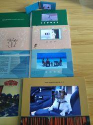 Los medios de comunicación de Marketing de visualización de vídeo de la Tarjeta de saludo Publicidad Brochure