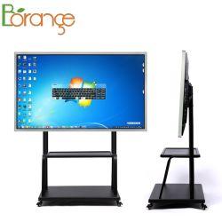 55 pollici Whiteboard interattivo elettronico Whiteboard interattivo portatile tutto in un PC dello schermo di tocco con la parentesi mobile