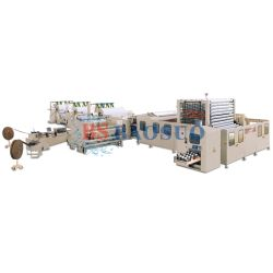 YD-PL350C دورة مياه سريعة الالتواء لفة/منشفة مطبخ/خط تصنيع الورق